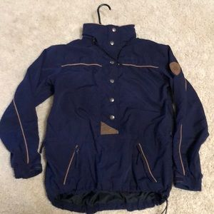 LL Bean navy water and wind resistant jacket